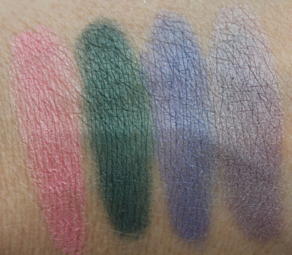 Stila Countless Colour Pigments Swatches