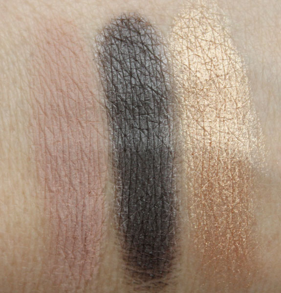 Urban Decay Eyeshadow Laced, Easy Baked, Desperation Swatches