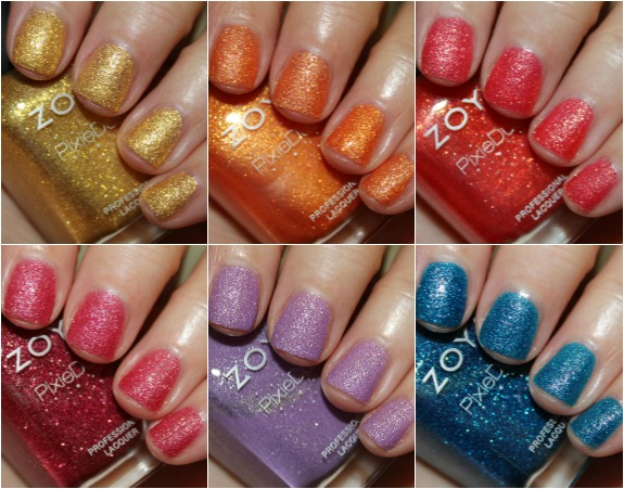 Zoya PixieDust Summer 2013 Collage