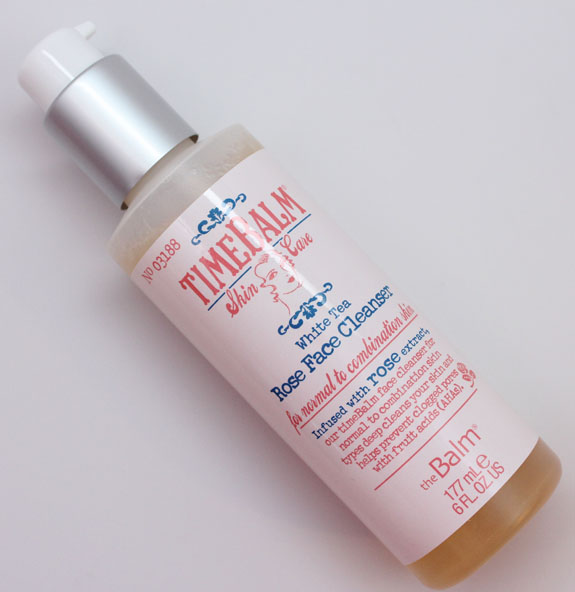 theBalm Rose Facial Cleanser theBalm Time Balm White Tea Rose Face Cleanser