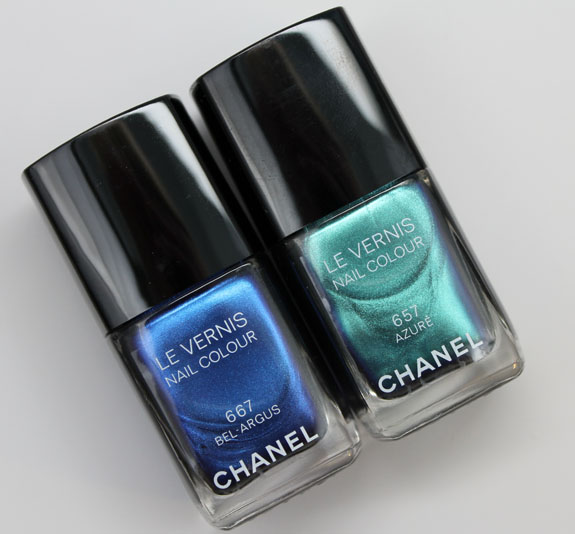 Chanel Azure and Bel-Argus Le Vernis