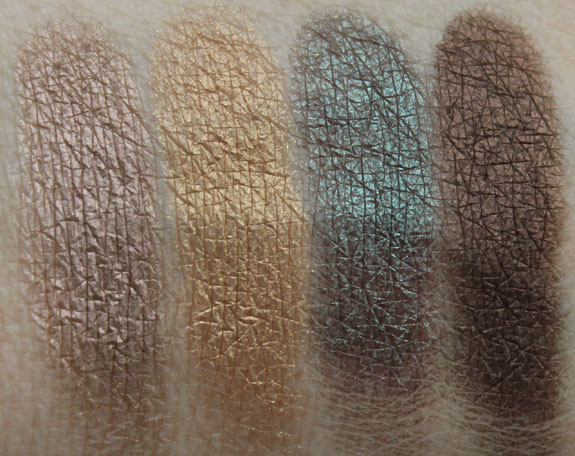 MAC Bare My Soul Eye Shadow Quad Swatches