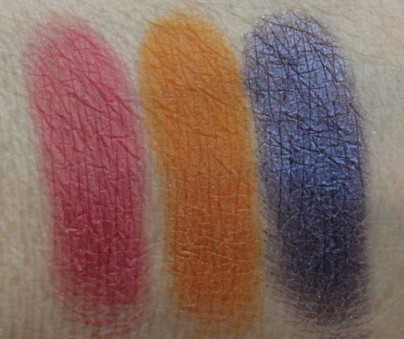 MAC Gameela, Farasha, Banafsaji Swatches