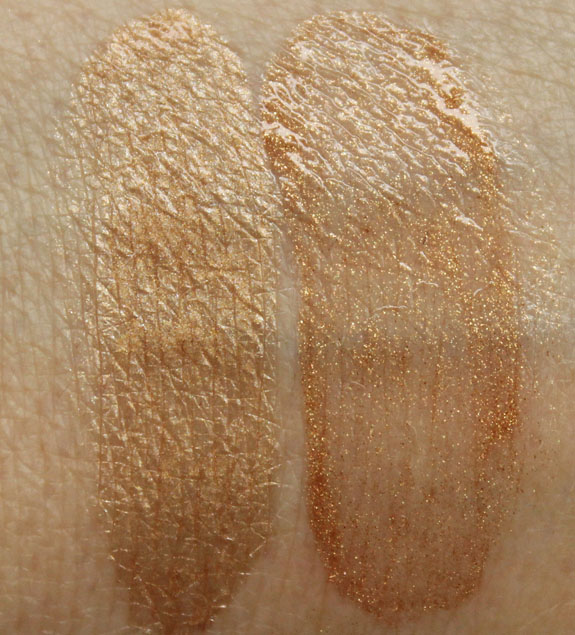 MAC Golden Elixer and Man Rays Swatches