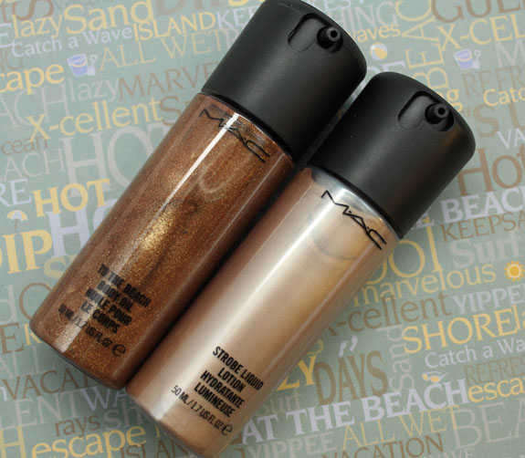 MAC Man Rays Body Oil and Golden Elixir Strobe Liquid