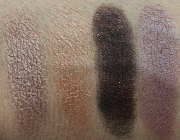 MAC Temperature Rising Eye Shadow Quad Swatches