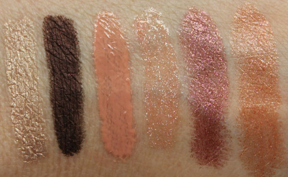 MAC Temperature Rising Swatches
