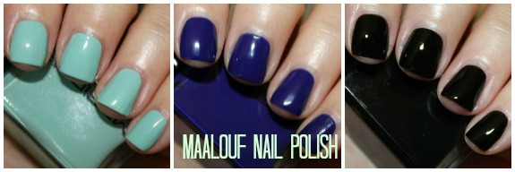Maalouf Nail Polish Collage
