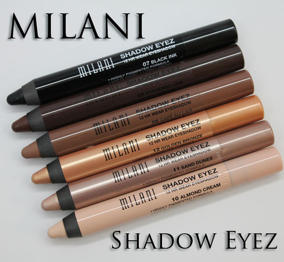 Milani Shadow Eyez 12 Hr Wear Eyeshadow Milani Naturally Chic Shadow Eyez 12 Hr Wear Eyeshadow Swatches and Review