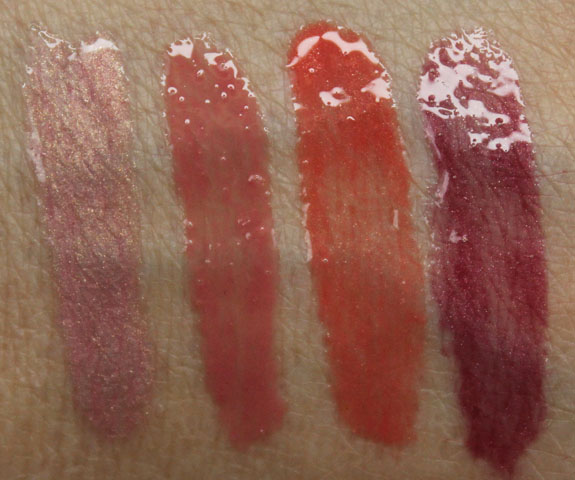 bareMinerals Marvelous Moxie Lipgloss Swatches
