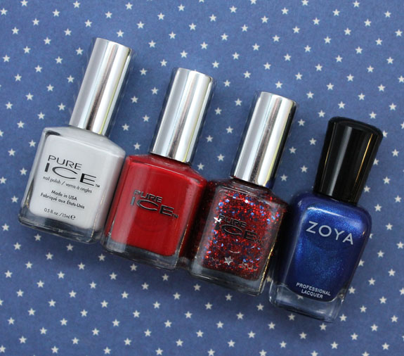 Fourth of July Mani 2013 Bottles