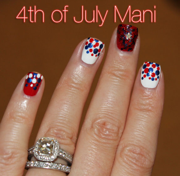 Fourth of July Mani 2013