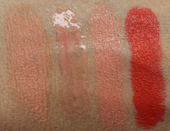 MAC All About Orange Swatches