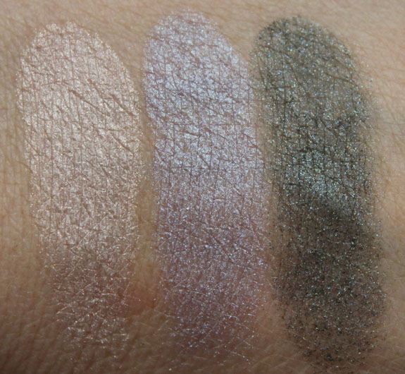 MAC Mineralize Eye Shadow Swatches no Primer