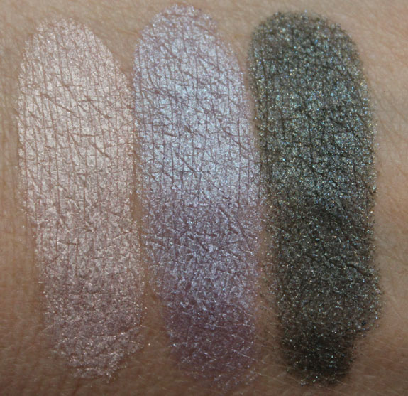 MAC Mineralize Eye Shadow Swatches with Primer