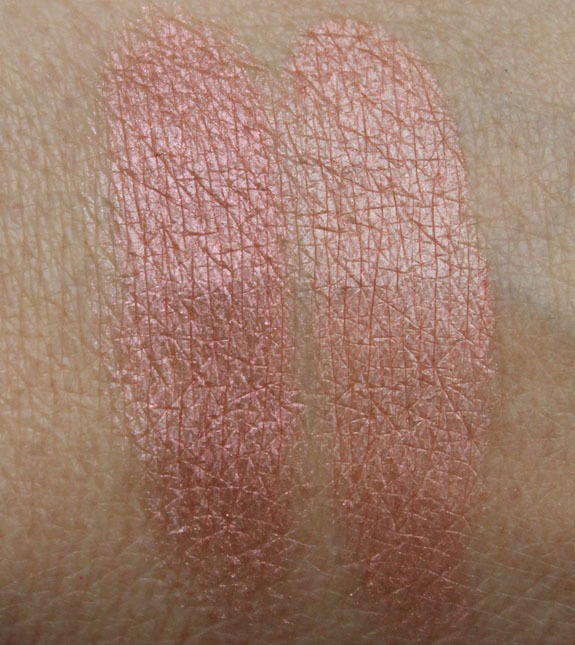 MAC Mineralize Skinfinish Lust and Rio Swatches