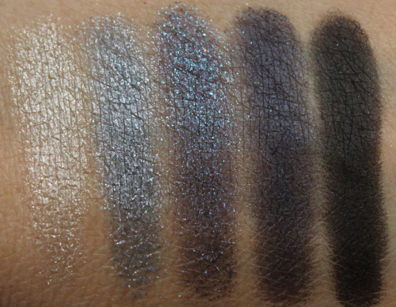 MAC Pearlfusion Shadow Bleuluxe Swatches