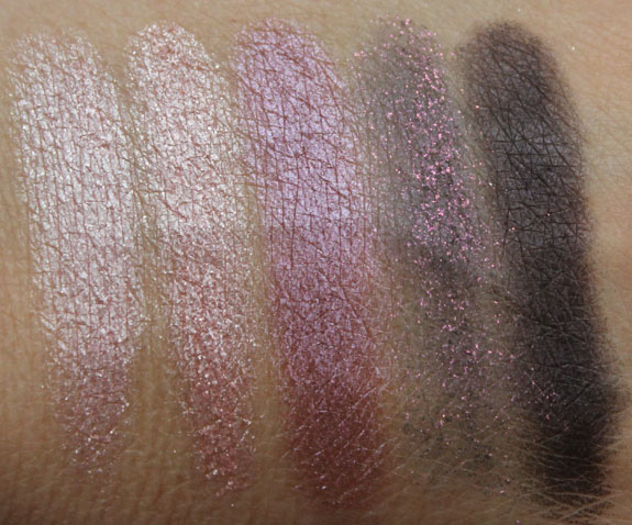 MAC Pearlfusion Shadow Pinkluxe Swatches