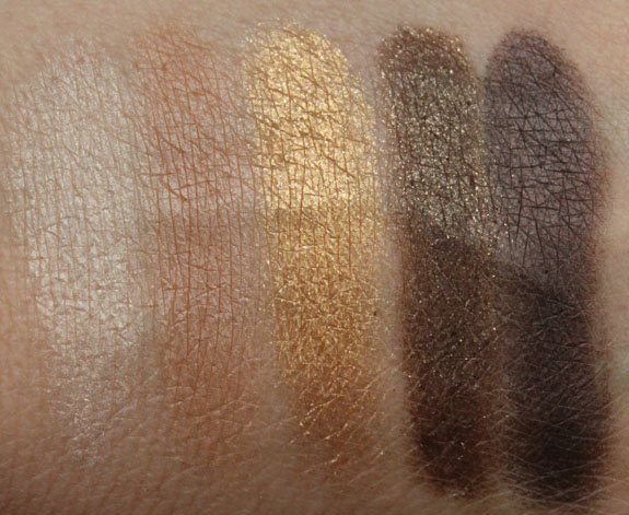MAC Veluxe Pearlfusion Shadow Brownluxe Swatches