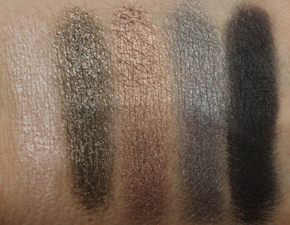 MAC Veluxe Pearlfusion Shadow Smokeluxe Swatches
