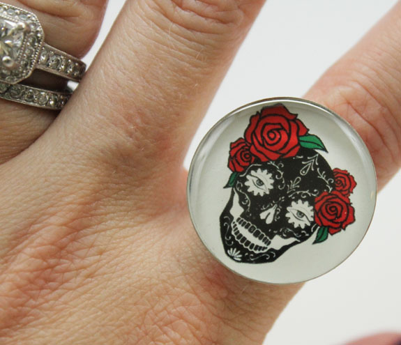 Starling Jewels Sugar Skull Ring