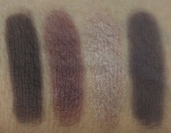 Becca Ultimate Eye Colour Quad Astro Violet Swatches