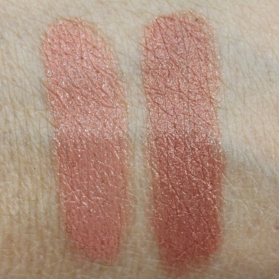 Hourglass Notorious Nudes Femme Nude Lip Stylo in Nude No 3 and Nude No 5 Swatches