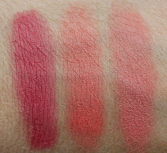 Jordana Blush Powder Swatches