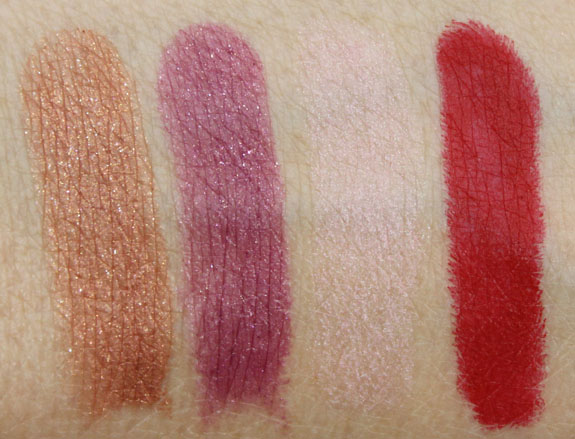 NARS Peloponnese, La Paz, Paimpol, Mysterious Red Swatches