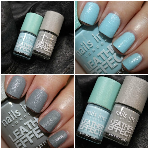Nails Inc. Leather Effect Collage