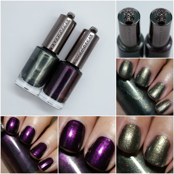 Urban Decay Nail Color in Vice and Addicted Collage