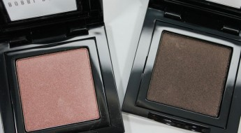 Bobbi Brown Shimmer Wash Eye Shadow in Rose Gold and Black Plum
