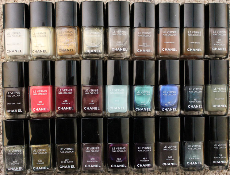 My Nail Polish Collection Featuring Chanel Vampy Varnish