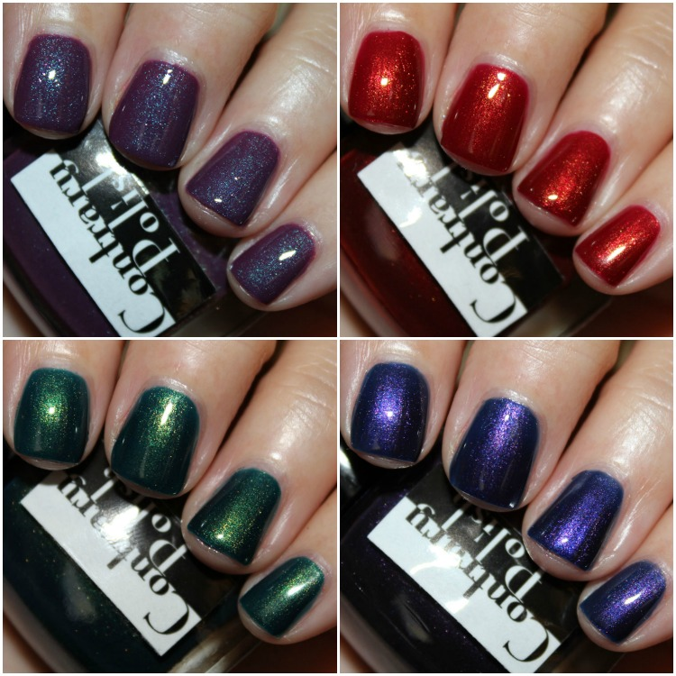 Contrary Polish Color Context and Gift Wrap Collage