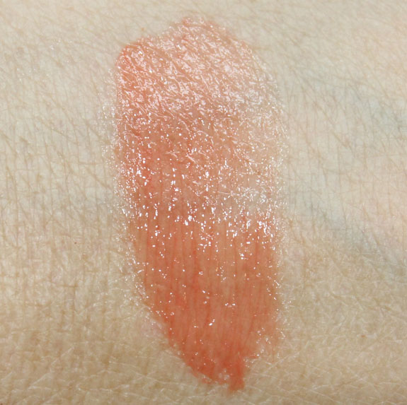 Korres Lip Butter in Mango Swatch