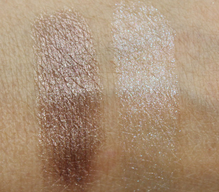 MAC Soft Sable and Summer Shower Lipstick Swatches