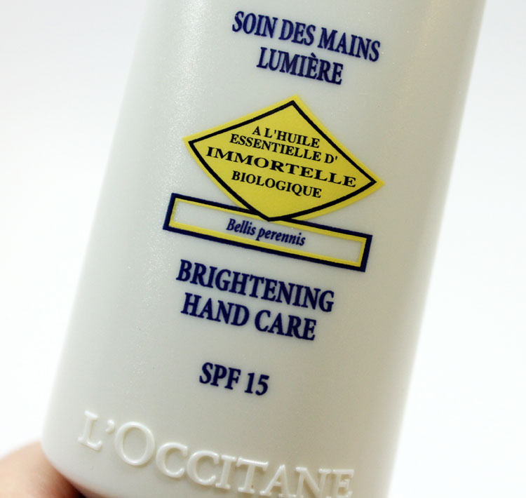 L'Occitane Immortelle Brightening Hand Care SPF 15-2