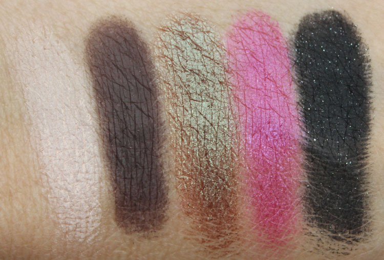 Too Faced Pretty Rebel Swatches