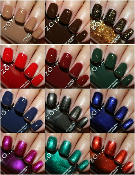 Zoya Cashmeres and Satins Collage