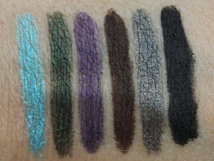 Jordana 12 Hr Made To Last Liquid Eye Liner Pencil Swatches