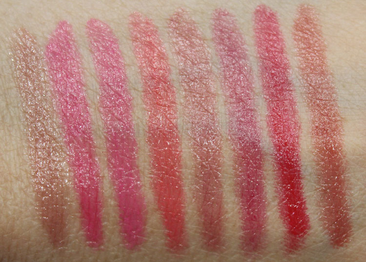 Jordana Twist & Shine Moisturizing Balm Stain Swatches