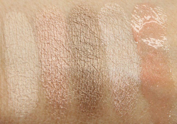 Benefit luv it up! cutest nudist makeup kit Swatches