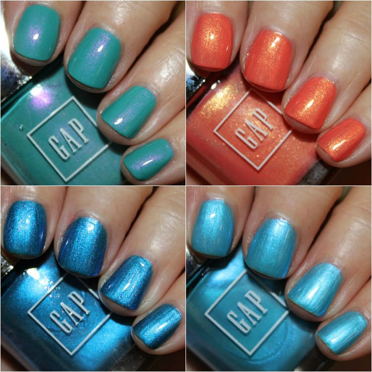 GAP Nail Polish Collage