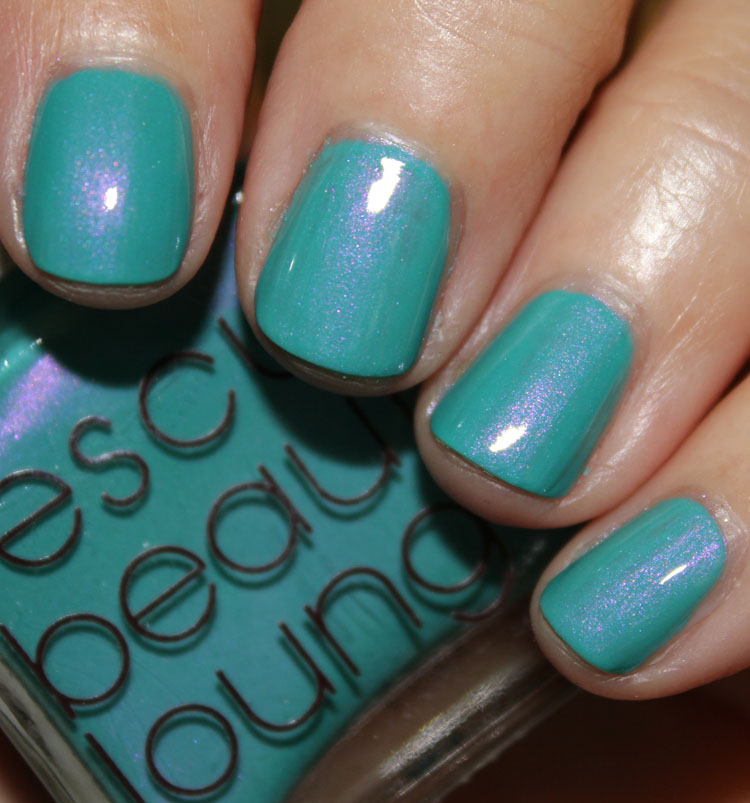 Gap Bright Pool and Rescue Beauty Lounge Aqua Lily Swatch