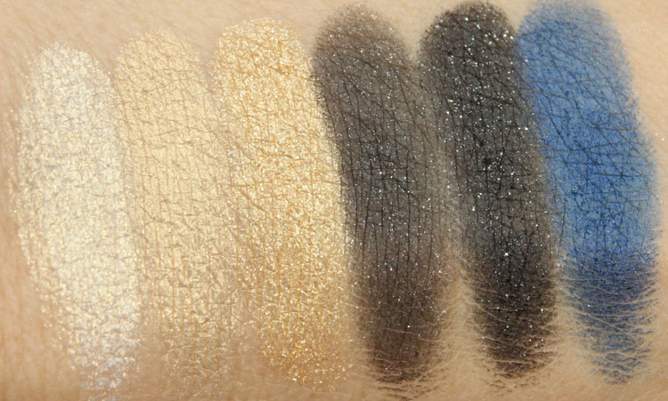 MAC Divine Night Mineralize Eye Shadow Swatches
