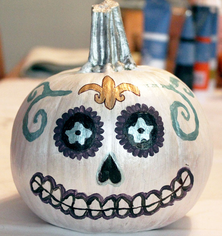 How to paint pumpkins vampy varnish Easy pumpkin painting patterns
