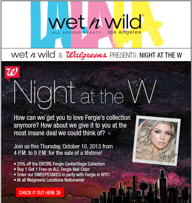 Wet n Wild Walgreens Sale