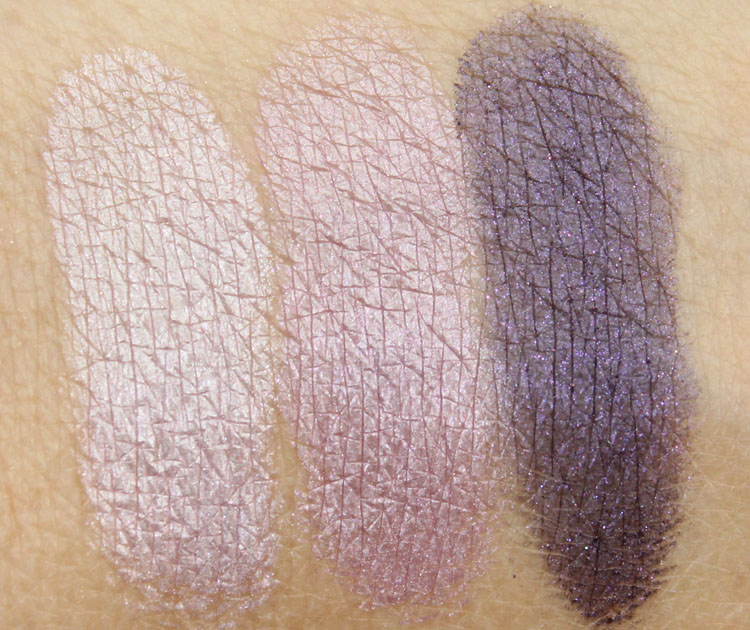 Laura Mercier Petite Baked Eye Colour Bonbons Amethyst Trio Swatches