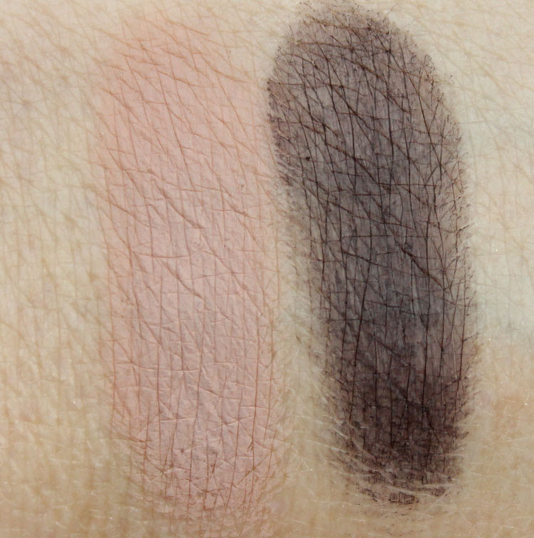 MAC Stroke Of Midnight Eye Bag Nude Swatches