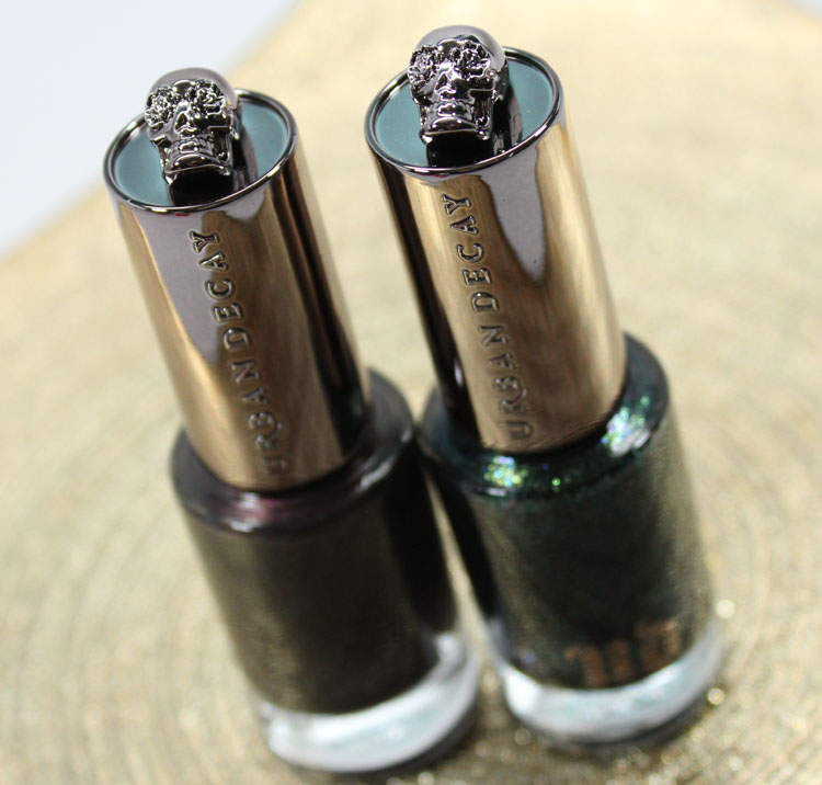 Urban Decay Nail Color Blackheart and Zodiac-3